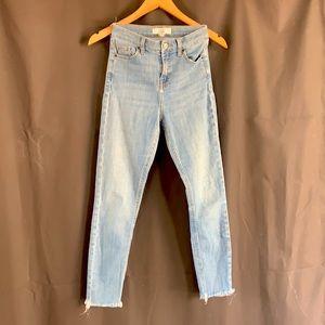 Topshop Cain Pants. Light Denim Size 23